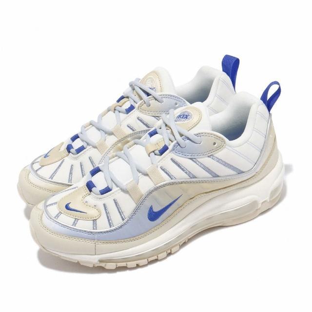 【NIKE 耐吉】休閒鞋 Air Max 98 LX 運動 女鞋 經典款 氣墊 舒適 避震 球鞋 穿搭 白 米白(CD0685-200)
