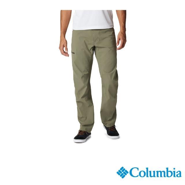 【Columbia 哥倫比亞】男款-UPF50防潑彈性長褲-軍綠(UAE06610 / 防潑.防曬.休閒)