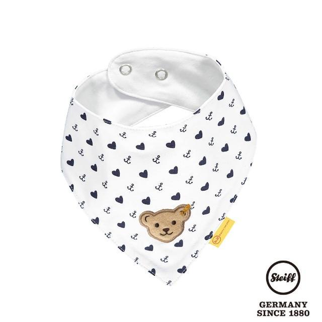 【STEIFF】熊頭 愛心 口水巾 領巾(圍兜)