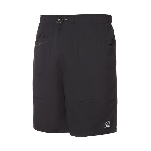 【NEW BALANCE】短褲 NB Logo Shorts 男款 紐巴倫 膝上 工裝 多口袋 穿搭推薦 黑 白(MS11580BK)