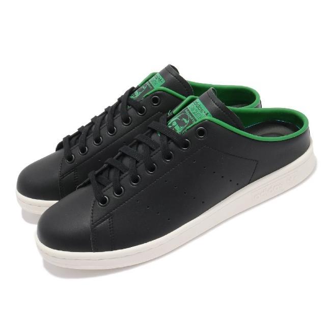 【adidas 愛迪達】休閒鞋 Stan Smith Mule 男女鞋 愛迪達 半包拖鞋 簡約 舒適 情侶穿搭 黑 白(FX5858)
