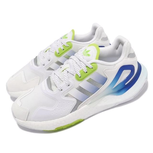 【adidas 愛迪達】休閒鞋 Day Jogger 運動 男鞋 愛迪達 輕量 透氣 舒適 避震 穿搭 白 藍(GW4912)