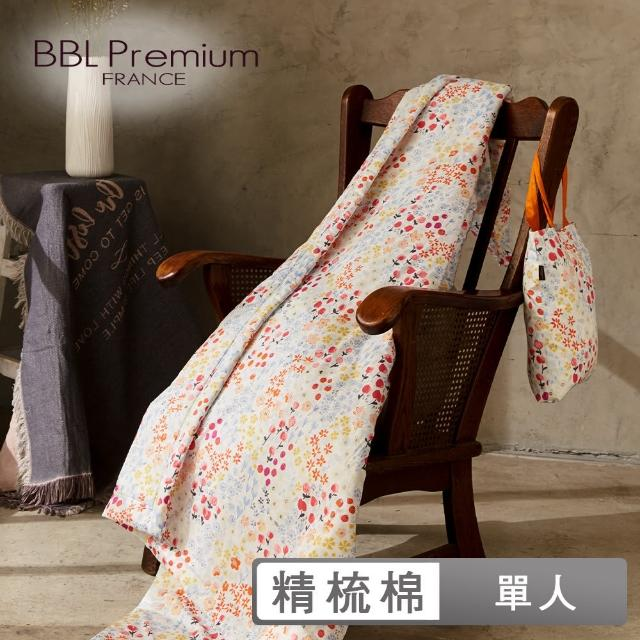 【BBL Premium】100%精梳棉.印花涼被-花果盛夏(單人)