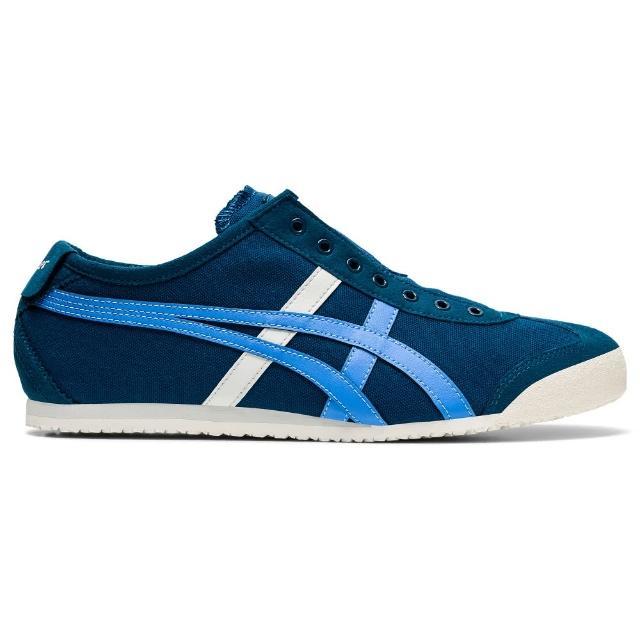 【Onitsuka Tiger】鬼塚虎 官方旗艦店 MEXICO 66 SLIP-ON 休閒鞋 藍色(1183A360-400)