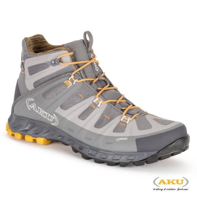 【AKU】男 中筒 多功能輕量健行鞋 灰/土黃 SELVATICA MID GTX(AK672-019/登山鞋/健行鞋)