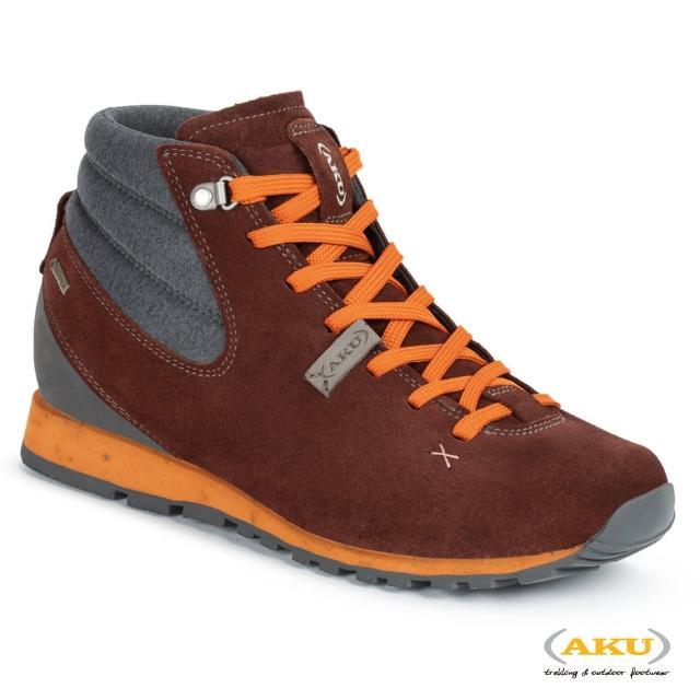 【AKU】女 中筒 休閒健行鞋 酒紅/橘 BELLAMONT GAIA MID GTXR(AK515-196/登山鞋/健行鞋)