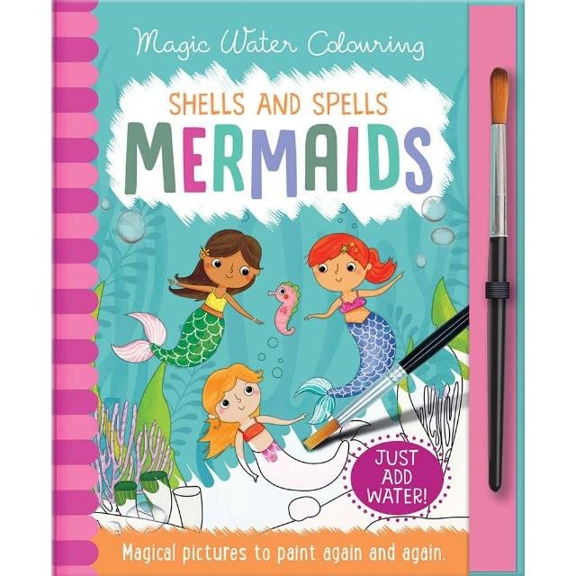 【Song Baby】Magic Water Colouring:Scales and Tails Mermaids 美人魚變色畫冊