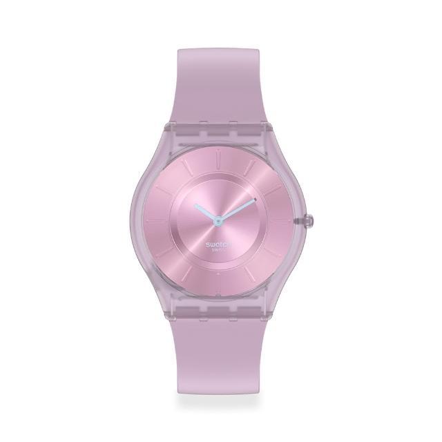 【SWATCH】SKIN超薄系列手錶SWEET PINK薰衣草(34mm)