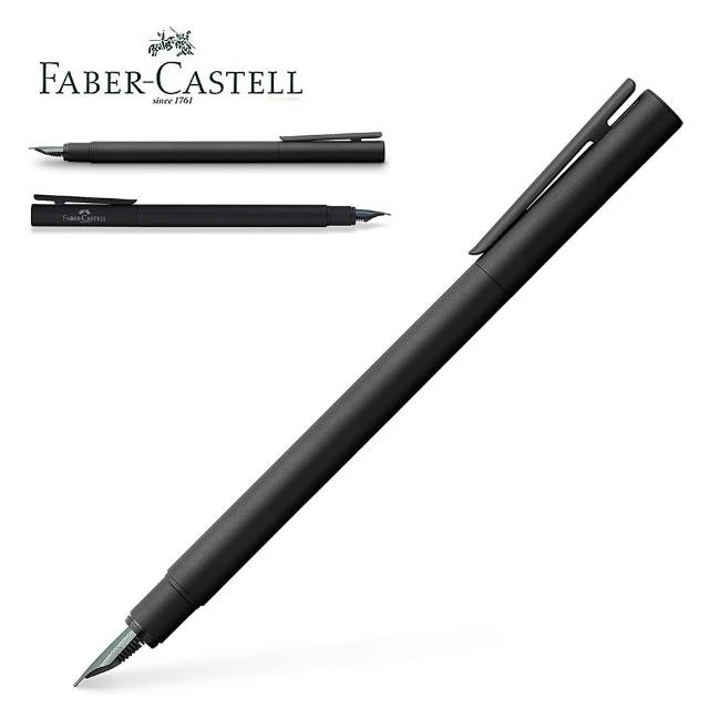 【Faber-Castell】德國 輝柏 黑沙袖珍鋼筆 F尖342301(鋼筆)