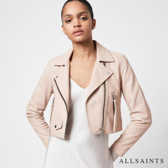 【ALLSAINTS】ELORA 修身短版光滑無染羊皮騎士皮衣(羊皮修身版型)