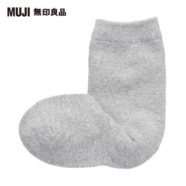 【MUJI 無印良品】兒童棉混腳跟特殊編織直角襪(共4色)