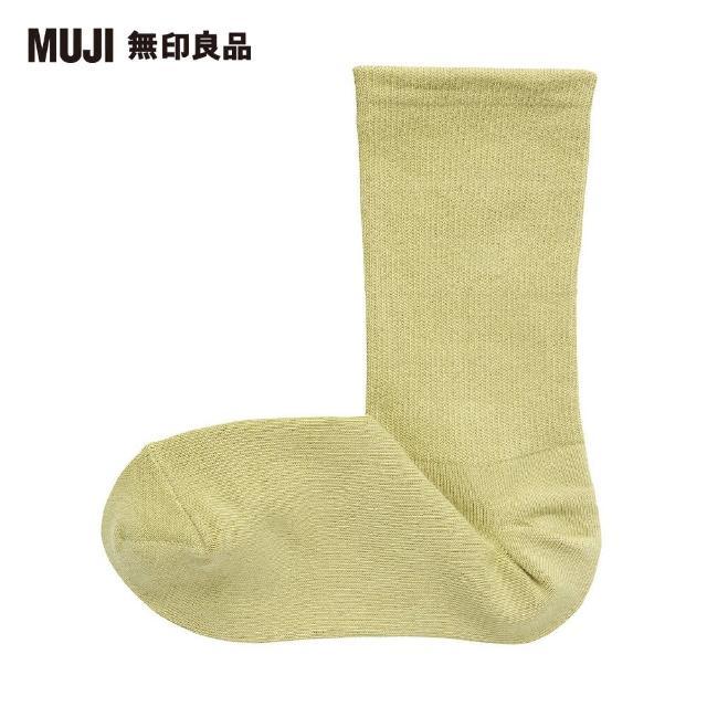 【MUJI 無印良品】女棉混腳跟特殊編織錐形直角襪(淺綠21~25cm)