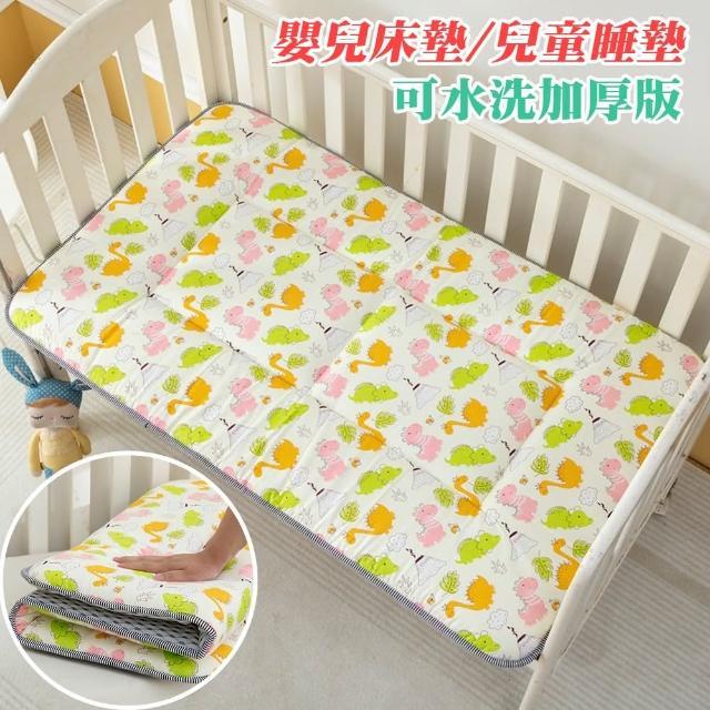 【Annette】純棉加厚嬰兒床墊/兒童睡墊(小小交通隊)