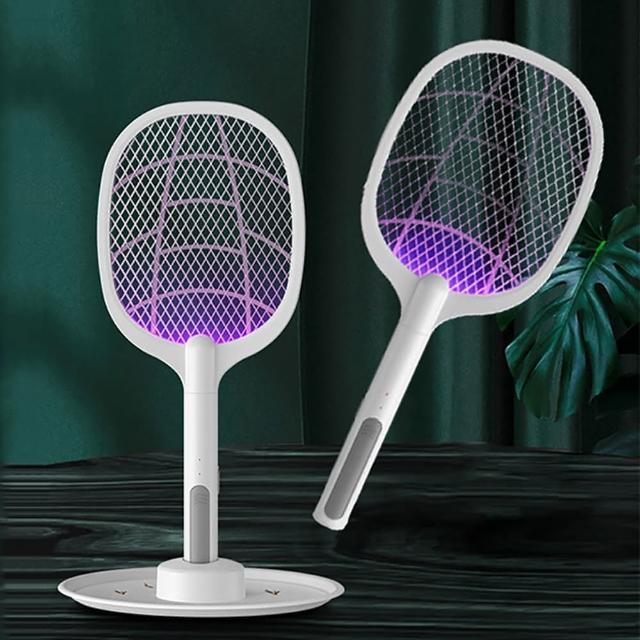 【Reddot 紅點生活】USB二合一附盤捕蚊電蚊拍(雙模式 兩種不同的滅蚊體驗)