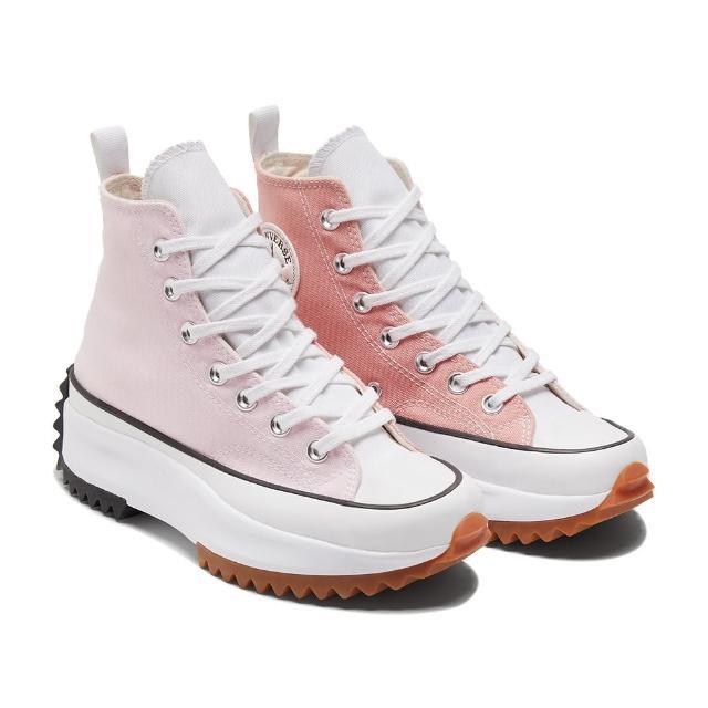 【CONVERSE】RUN STAR HIKE HI 高筒 女 三色拼接 厚底 舒適 休閒鞋 粉紅色(170968C)