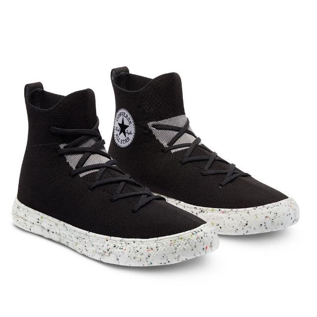 【CONVERSE】CTAS CRATER KNIT HI 高筒 男女 舒適 襪套 針織鞋面 休閒鞋 黑色(170868C)