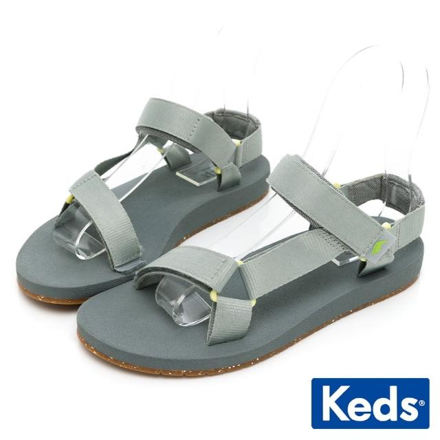 【Keds】TRIO ECO SANDAL 輕量街頭風格涼鞋(青草綠)
