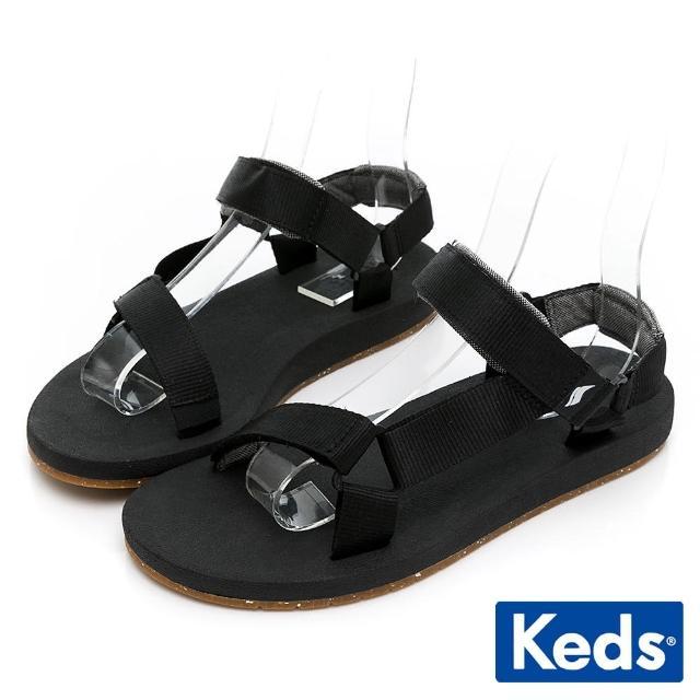 【Keds】TRIO ECO SANDAL 輕量街頭風格涼鞋(黑)