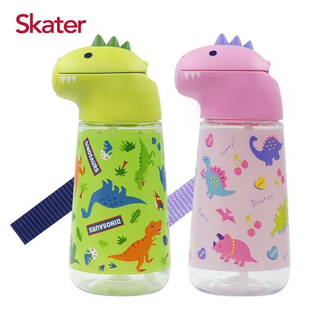 【Skater】造型吸管水壺420ml(恐龍)