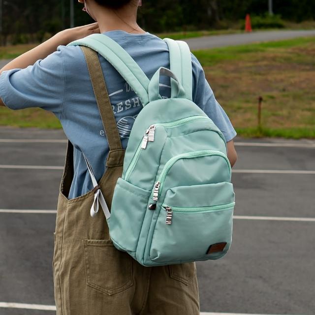 【J II】後背包-多隔層防潑水後背包-藍綠色-6390-25(後背包)