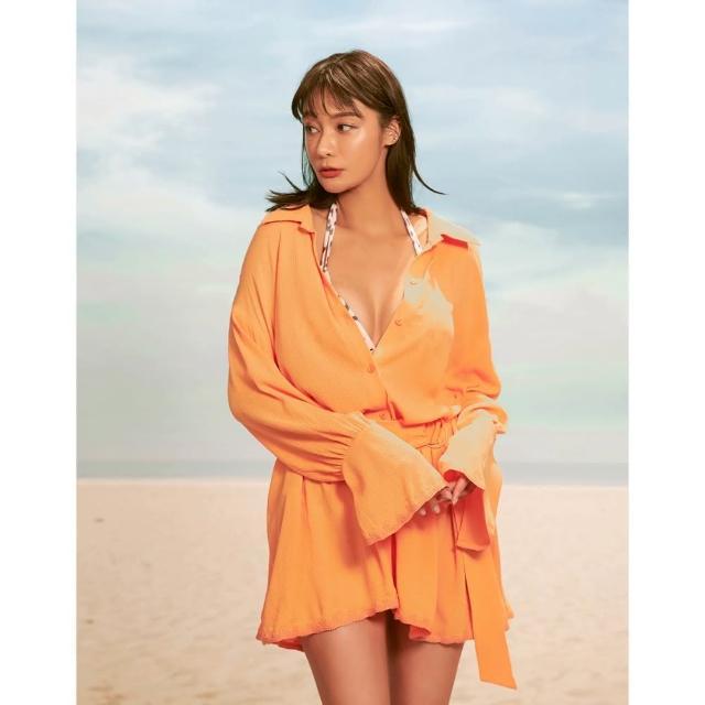 【WAVE SHINE】復古袖型綁帶襯衫-二色(B5WF023)
