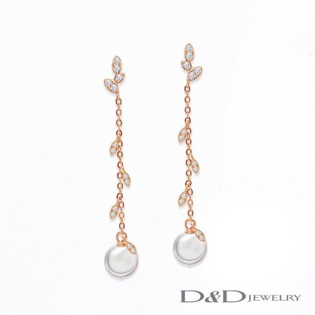 【D&D JEWELRY】幸福之芽 天然珍珠純銀耳環(925純銀)