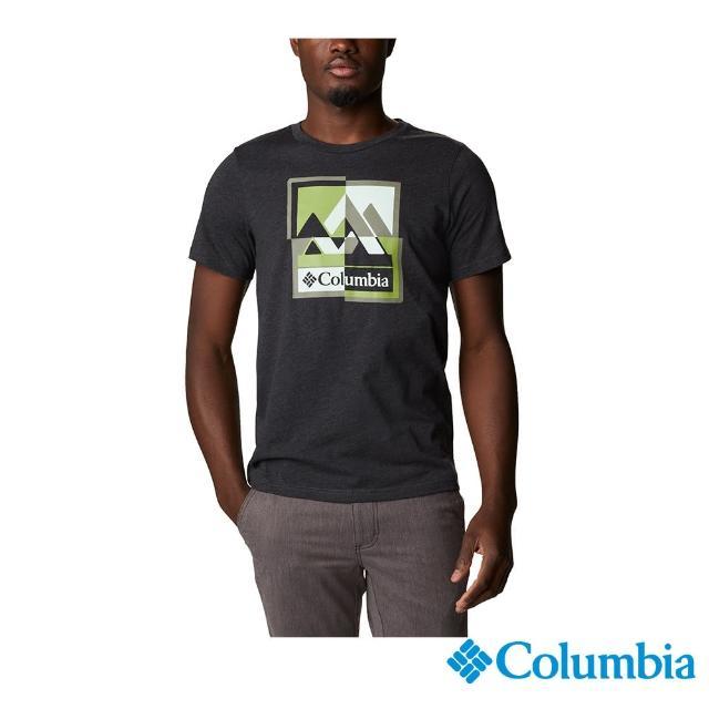 【Columbia 哥倫比亞】男款- 純棉短袖上衣-黑色(UAM04080BK / 純棉. 舒適.休閒)