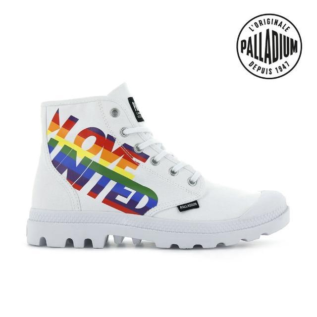 【Palladium】PAMPA HI PRIDE彩虹限定軍靴-中性-白(77081-100)