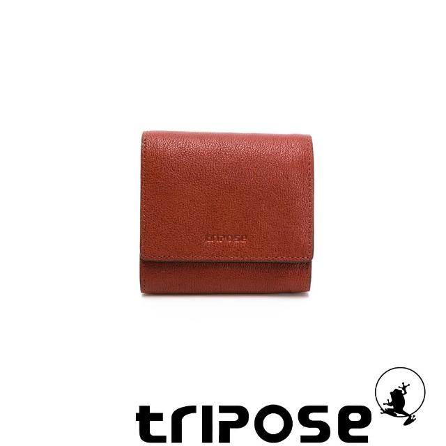 【tripose】進口牛皮短夾(深駝)