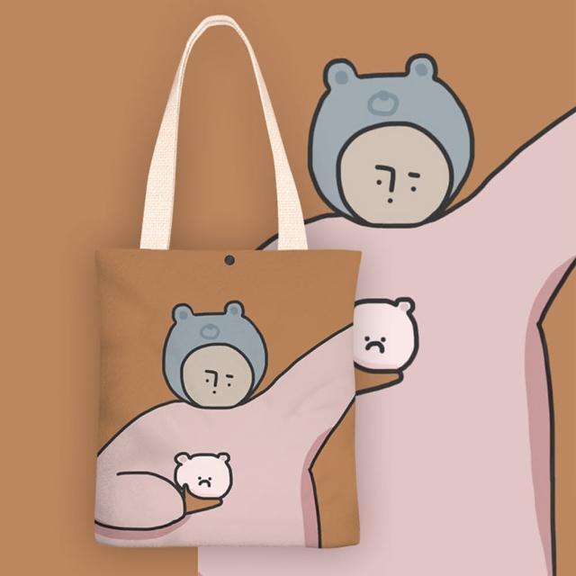 【KISSDIAMOND】文青風創意塗鴉手提肩背帆布袋-個性小情緒(KDB-0117)