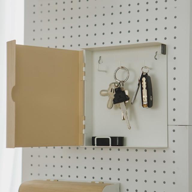 【PEACHY LIFE 完美主義】質感木紋牆面鑰匙盒/鑰匙收納盒(二色可選)