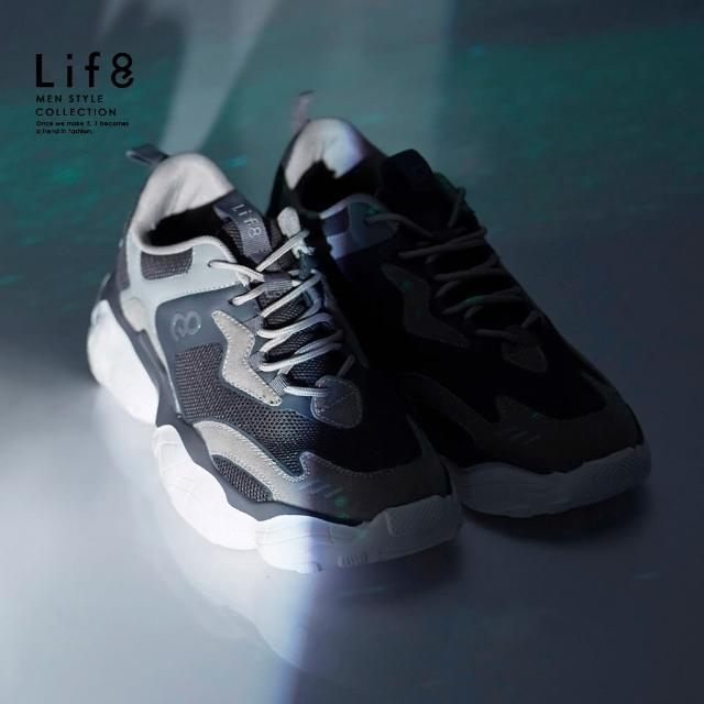 【Life8】Sport 飛行者 厚底運動鞋-深灰(19002)