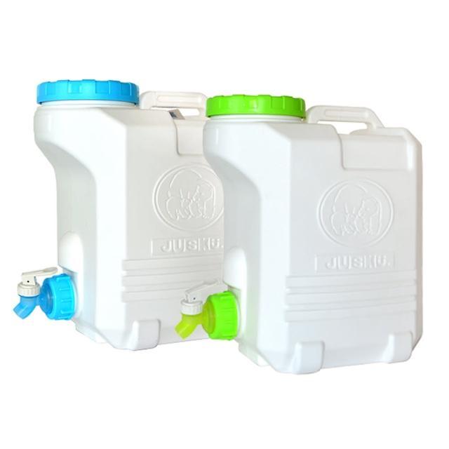 【生活King】太平洋生活水箱-10L/儲水桶/蓄水桶/分裝桶/取水桶 附水龍頭(2入組)