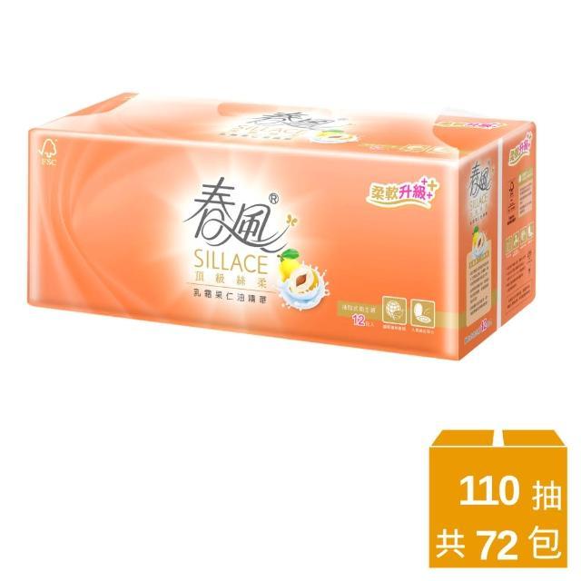 【春風】抽取式衛生紙-乳霜果仁油-110抽*12包*6串