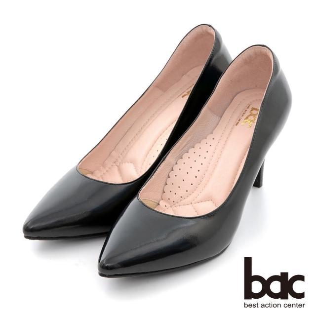 【bac】時髦尖頭素雅雷射高跟鞋(黑色)