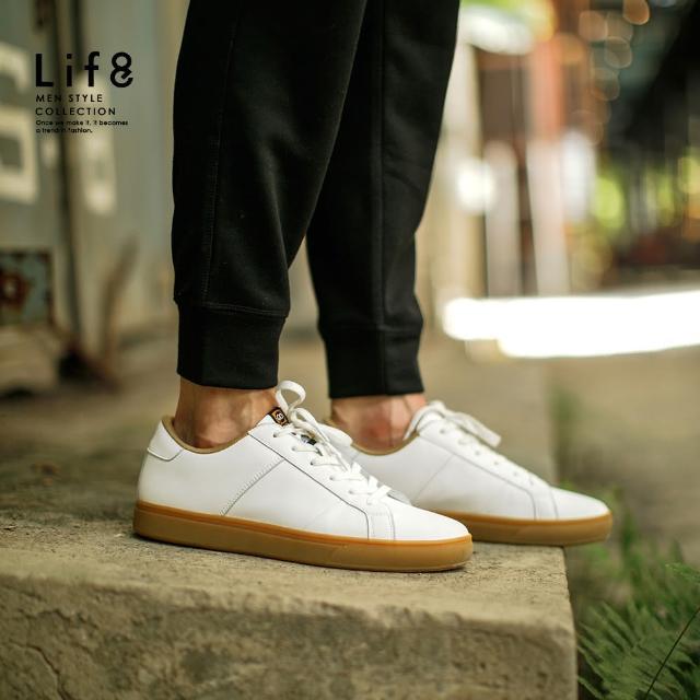 【Life8】Casual 都市隨行走 休閒小白鞋(09998)