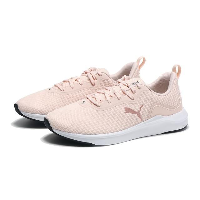 【PUMA】慢跑鞋 粉玫瑰金 網布 軟Q 休閒 SOFTRIDE FINESSE 女(19508604)