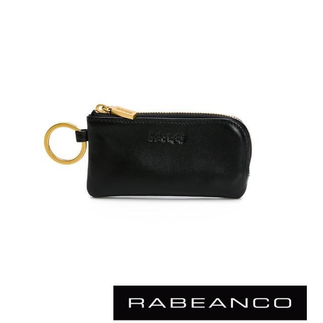 【RABEANCO】迷時尚系列鑰匙零錢包(黑色)