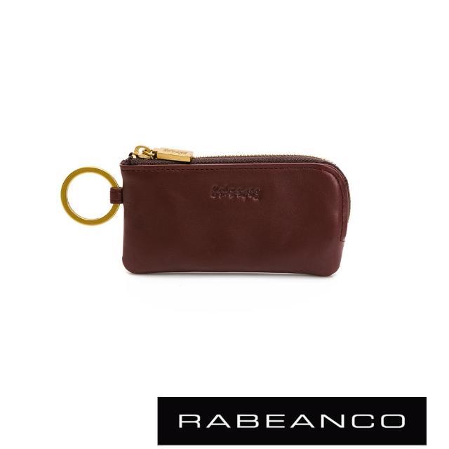 【RABEANCO】迷時尚系列鑰匙零錢包(棗紅)