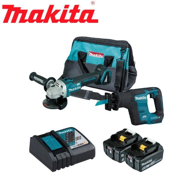 【MAKITA 牧田】18V鋰電無刷砂輪機+手提鋸機雙機組(DGA404RTX7)