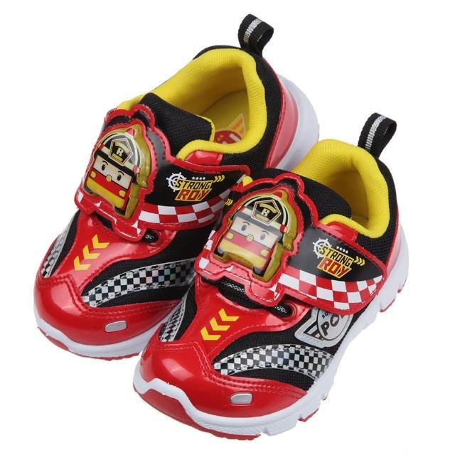 【布布童鞋】POLI救援小英雄羅伊賽車紅色兒童電燈運動鞋(B1B252A)