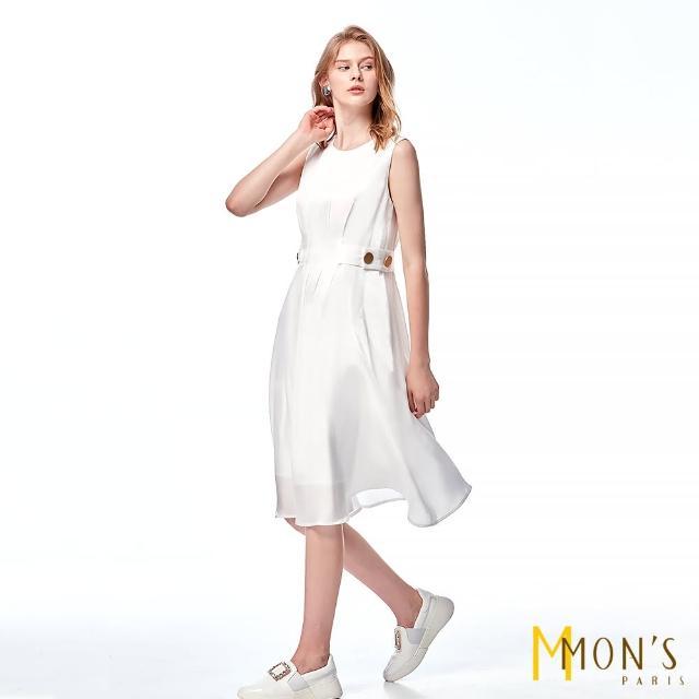 【MON'S】絲光感無袖A-Line洋裝