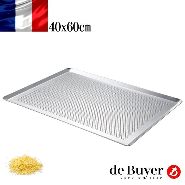 【de Buyer 畢耶】鋁製氣孔導角淺烤盤60x40cm(需搭配烘焙紙、墊)