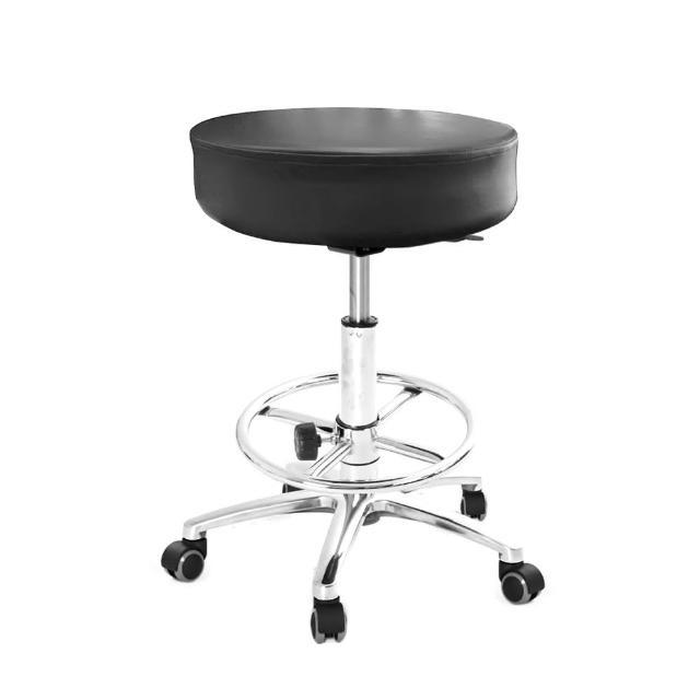 【GXG 吉加吉】圓凳款 工作椅 鋁腳+踏圈+防刮輪(TW-T01 LUXK)