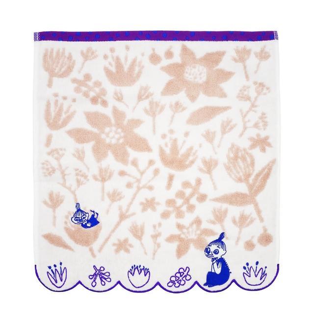【Marushin 丸真】Moomin小不點與美寶春花綻放洗臉巾(洗臉巾)