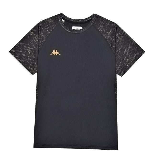 【KAPPA】中性型男針織圓領衫(黑/復古黃 33163GWZ07)