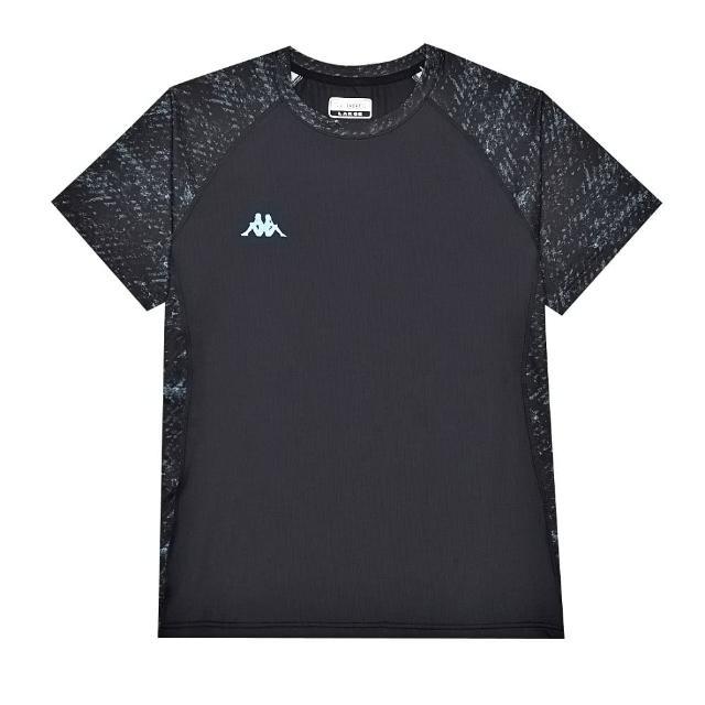【KAPPA】中性型男針織圓領衫(黑 / 湖水藍 33163GWB29)