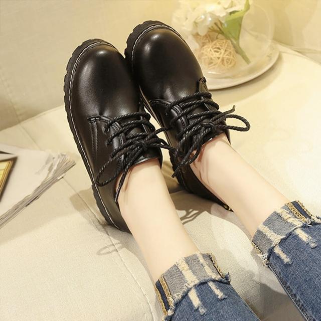 【K.W.】獨賣韓風質感皮鞋-皮鞋/馬丁靴(共1色)