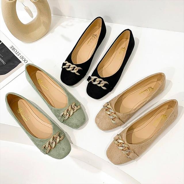 【K.W.】獨賣摩登焦點娃娃鞋-通勤鞋/平底鞋(共3色)