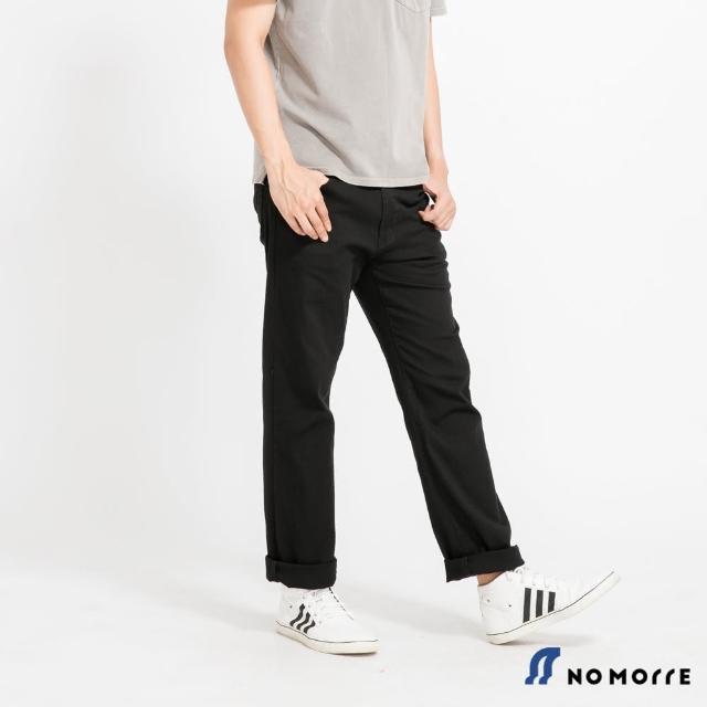 【NoMorre】輕薄透氣彈力直筒休閒褲-黑色
